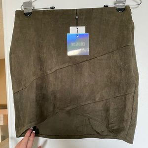 Misguided suede skirt